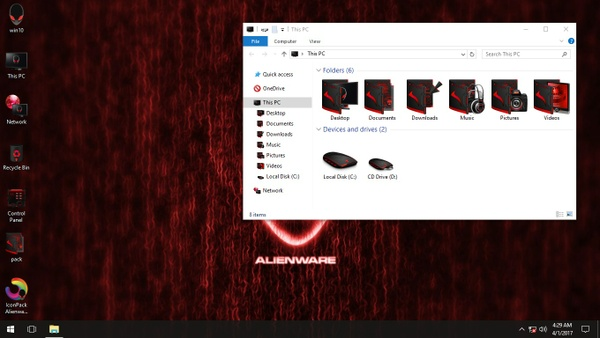 Alienware Advanced Red IconPack