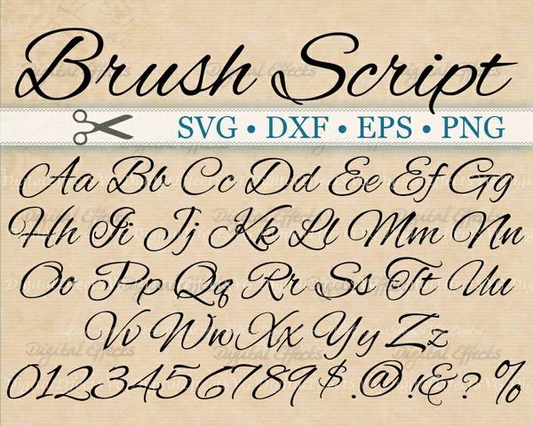 BRUSH SCRIPT SVG FONT