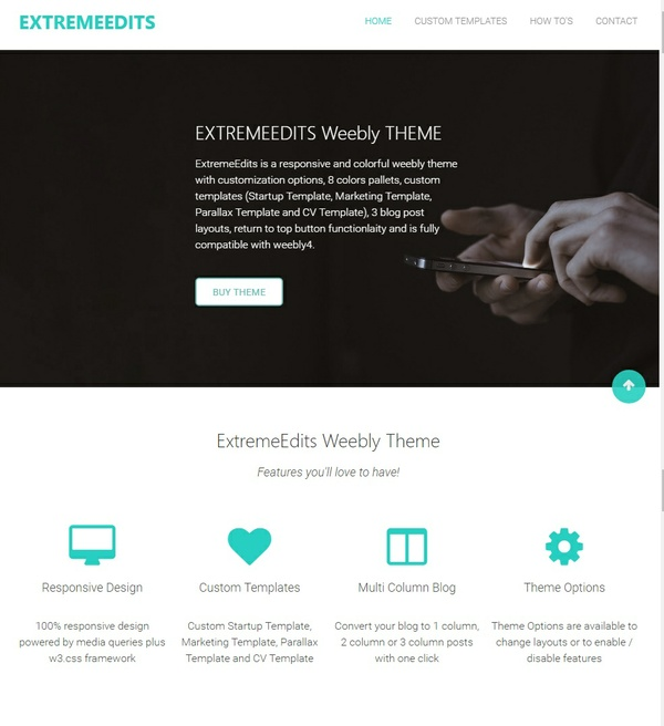 ExtremeEdits - Responsive Weebly Theme