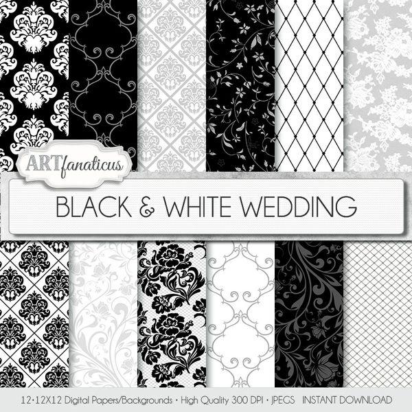 BLACK & WHITE WEDDING - DIGITAL PAPER