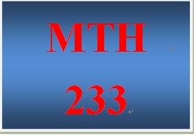 MTH 233 Week 1 DQ 4