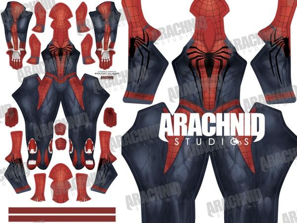 PS4 Spider-Man Black Symbol Dye-sub pattern
