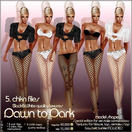 Dawn To Dark Outfit Full Pack IMVU MESH