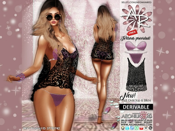Imvu Freebie: Pull Over Top & Bikini Files