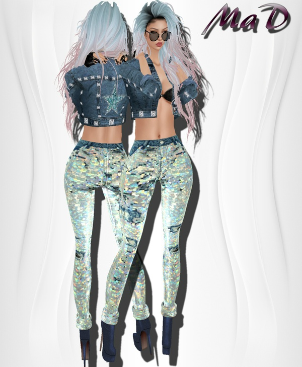 MaD Gliter Jeans set ONLY CATTY