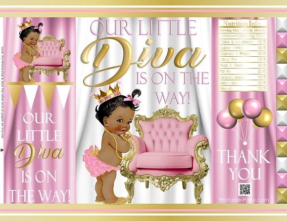 printable-chip-bags-royal-princess-pinkgold-african-baby-shower02