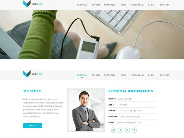 MELO ME-ADOBE MUSE TEMPLATE