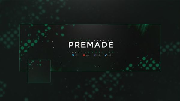 ''Debris'' 2D Clean Twitter Header Template