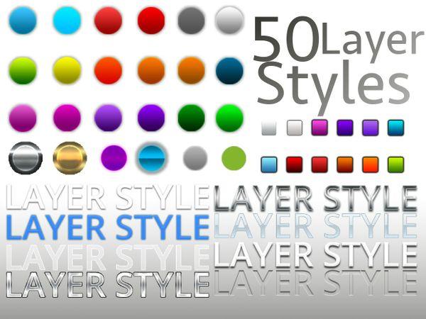 50 Photoshop Layer styles