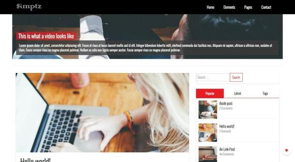 CHEAP WordPress blog theme - Simplz