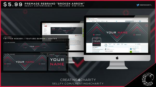 """Broken Arrow"" pre-made social media re-brand"