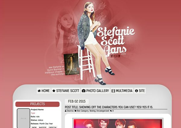 Wordpress Premade Theme #1 - Red Velvet