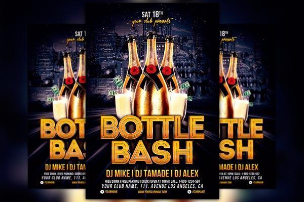 Bottle Bash Party Flyer Template