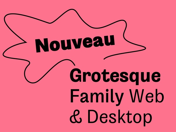 Nouveau Grotesque Family Web + Desktop 1-3 User + 10.000 Pageviews