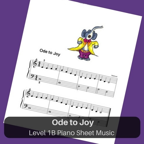 Ode to Joy easy piano sheet music