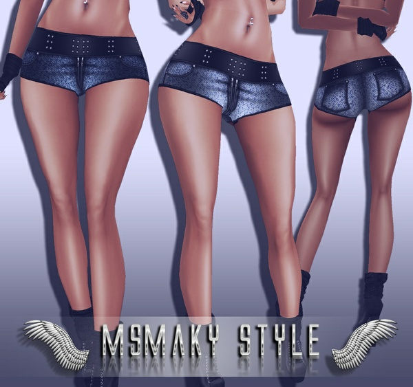 ~ Shorty jeans (sis3d compatible) PSD pack ~
