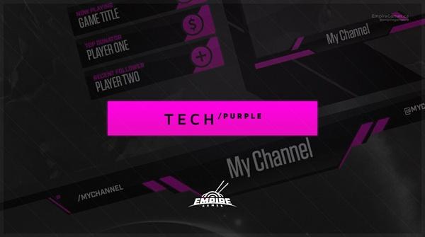 Stream Overlay | Tech Purple - No Photoshop!
