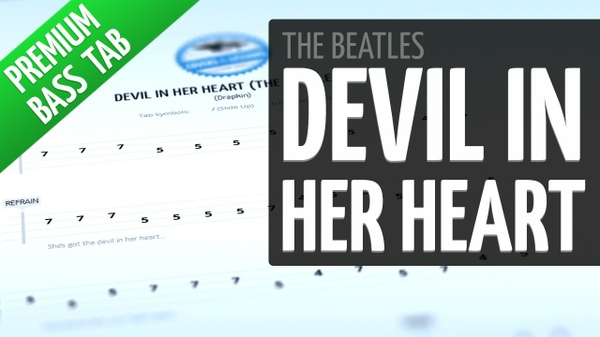 Devil In Her Heart (Premium Bass Tab)
