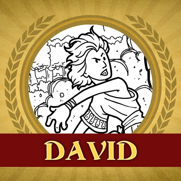 The Heroes of the Bible Coloring Pages: David