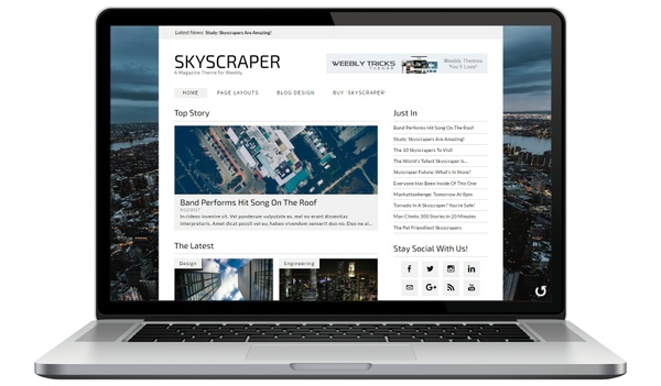 Skyscraper Weebly Theme