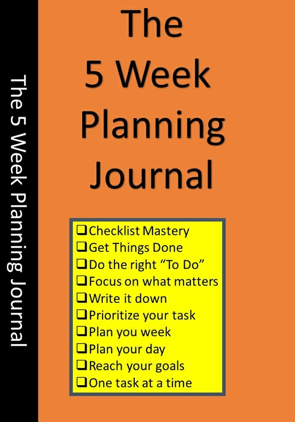 The 5 Week Planner Journal Refills