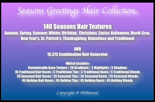 10,375 Seasons Greetings Hair Generator With Resell Rights