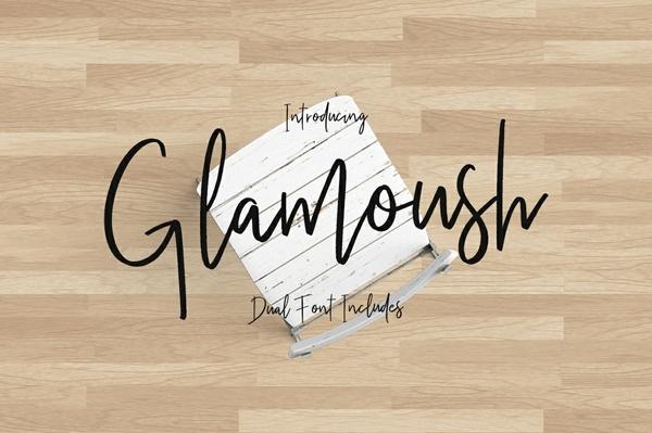 Glamoush Typeface Font Duo