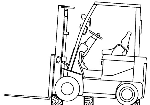 Nissan Forklift Electric P01 & P02 Series Service Repair Manual Download