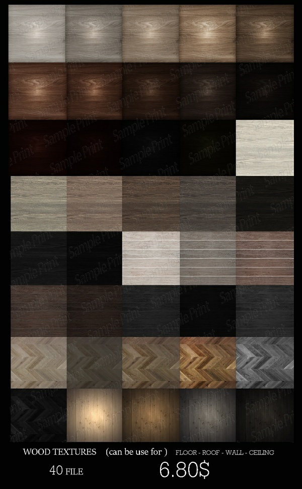 WOOD TEXTURES (CAN BE USE FOR FLOOR - ROOF - WALL -CEILING)