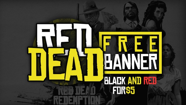 RED DEAD UNDEAD BANNER ( FREE )