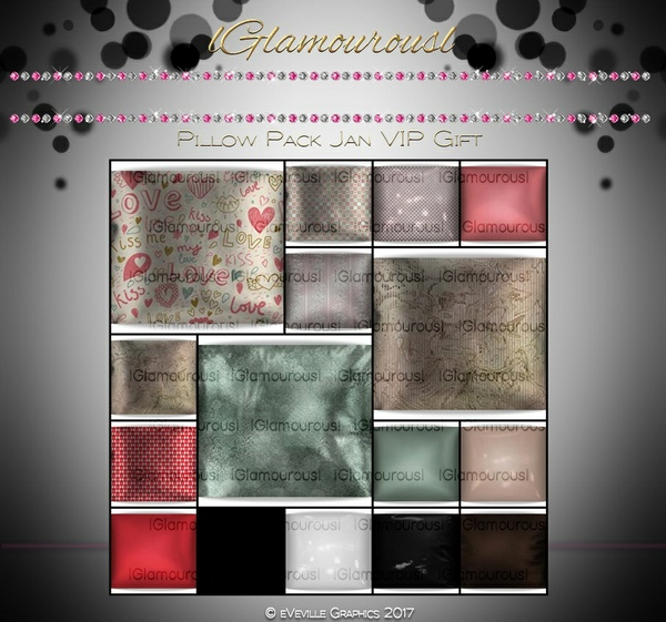 Glamourous Pillow Pack JAN VIP GIFT~CATALOG ONLY~ ~VIP Members Only Get Gift~