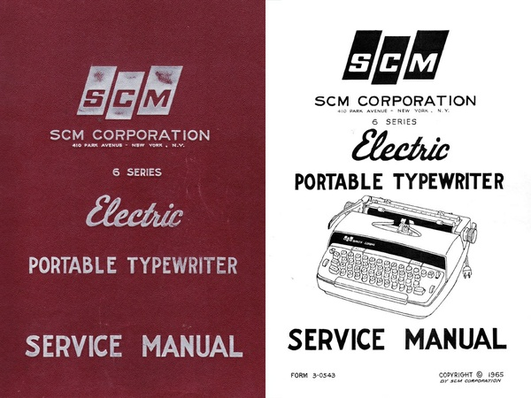 Smith Corona 6 Series Electric Portable Typewriter Repair Adjustment Service Manual