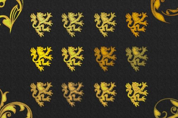 36 Gold Sparkling Style Photoshop V02