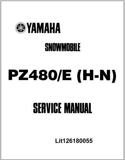 1984-1989 Yamaha PZ480/E (H-N) Phazer Snowmoblile Workshop Service Repair Manual Download