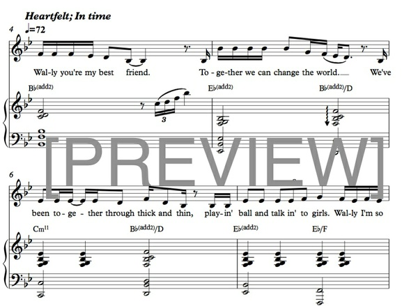 """My Best Friend"" [piano/voice arrangement] - PDF score"