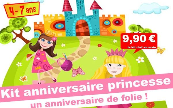 (4/7 ans) Kit anniv. Princesse & Prince