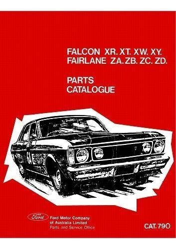 FORD FALCON 1966-1972 XR XT XW XY PARTS BOOK GT GS Fairlane ZA ZB ZC ZD