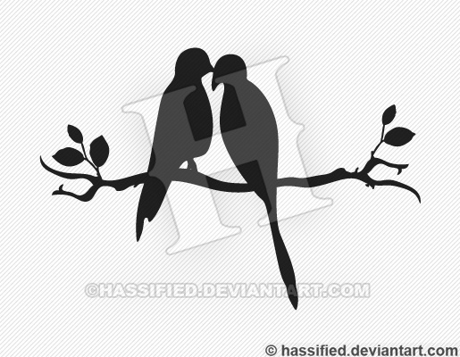 Love Birds - Printable vector, eps, svg, jpeg