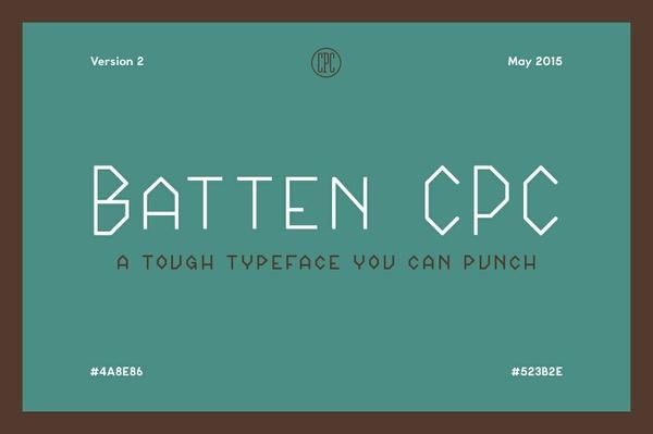 Batten CPC - A tough typeface you can punch