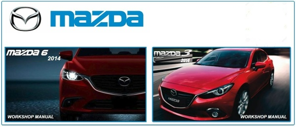Mazda 3 & 6 2014 Factory Service Manuals.