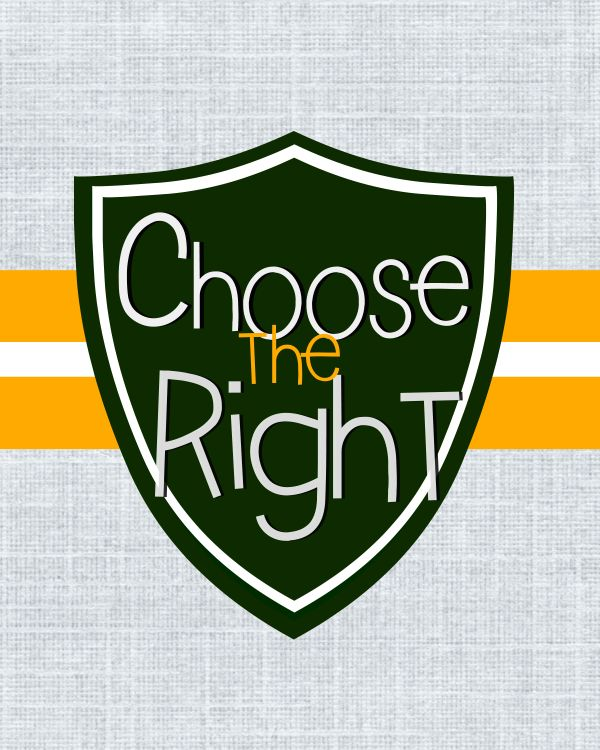 Choose the Right digital download green/yellow