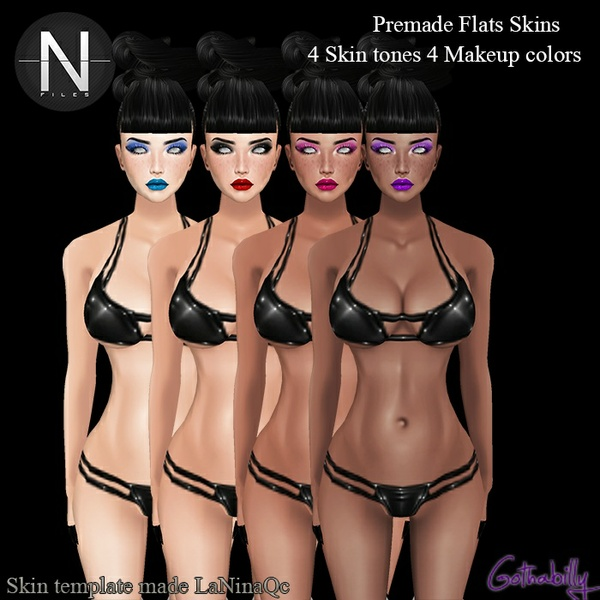 HD Flat Skin Pack - 4 tones