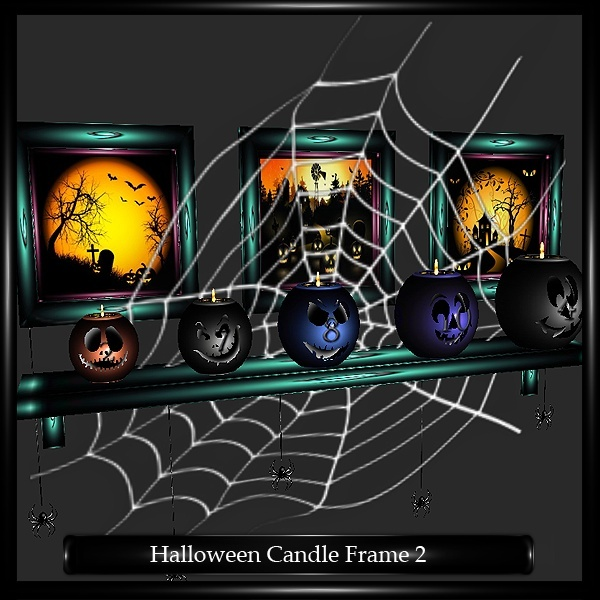 HALLOWEEN CANDLES FRAME