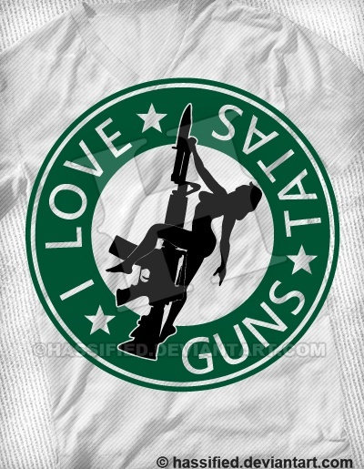 I Love Guns and Tatas - printable, vector, svg, art