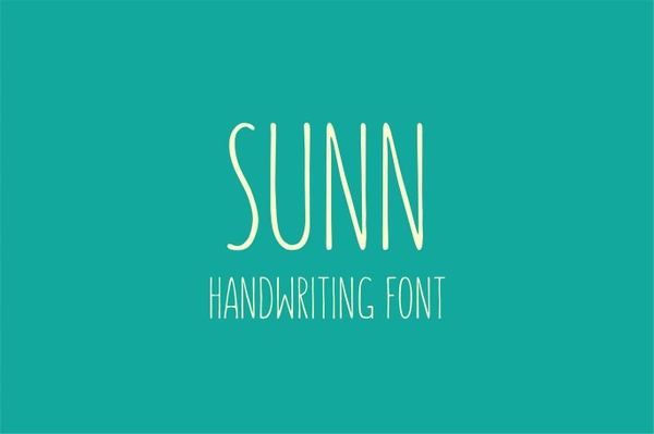 SUNN - Handwriting Font