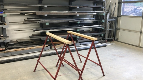 Fireball folding sawhorse