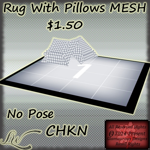 Rug With Pillows MESH