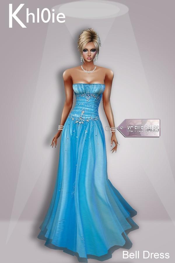 Bell blue dress