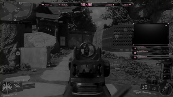 Black & Pink Twitch Overlay