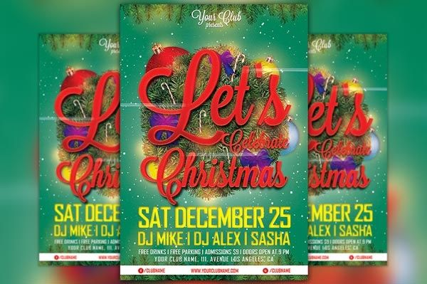 Let's Celebrate Christmas Flyer Template